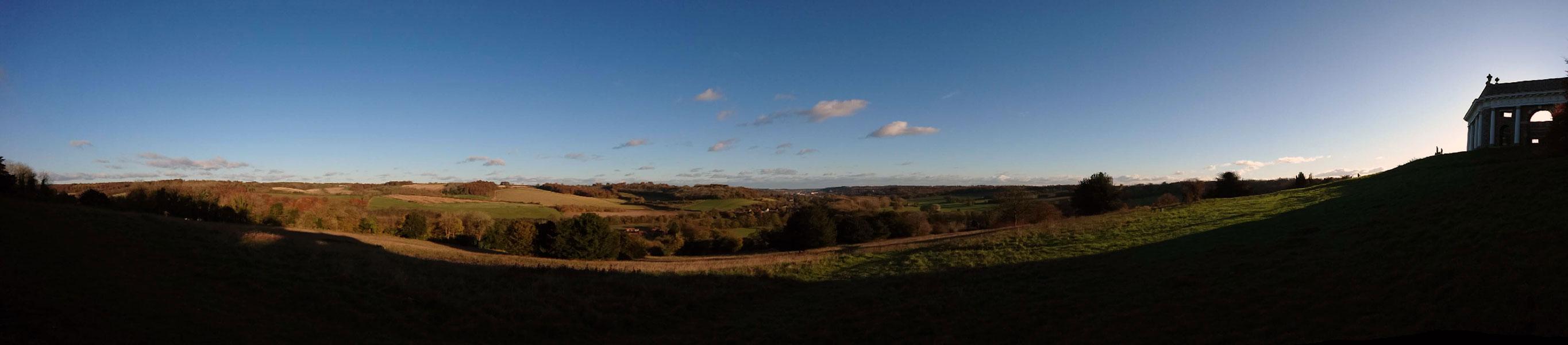 Vue panoramique depuis la colline de West Wycombe