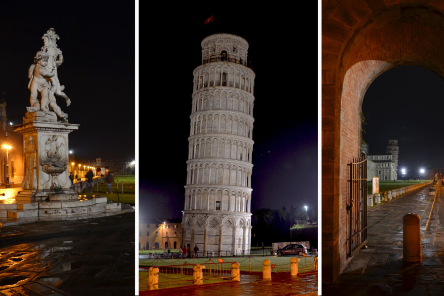 Glimpses of Pisa by night